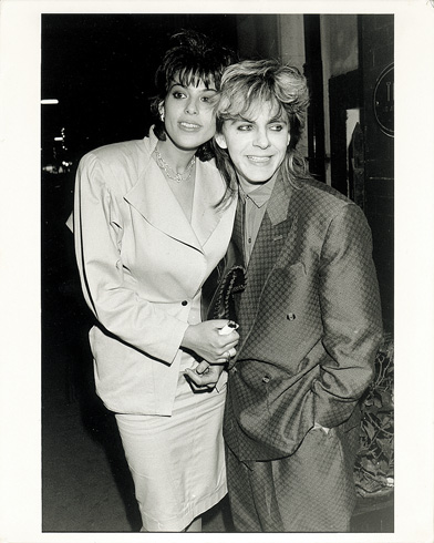 Nick Rhodes with wife Julie-Ann